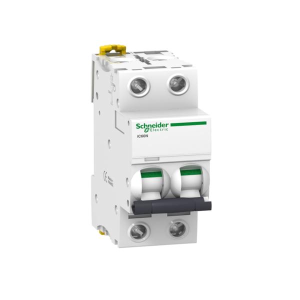 Schneider Electric A9F77210 Interruptor automático termomagnetico iC60N 2P 10A curva C 50kA