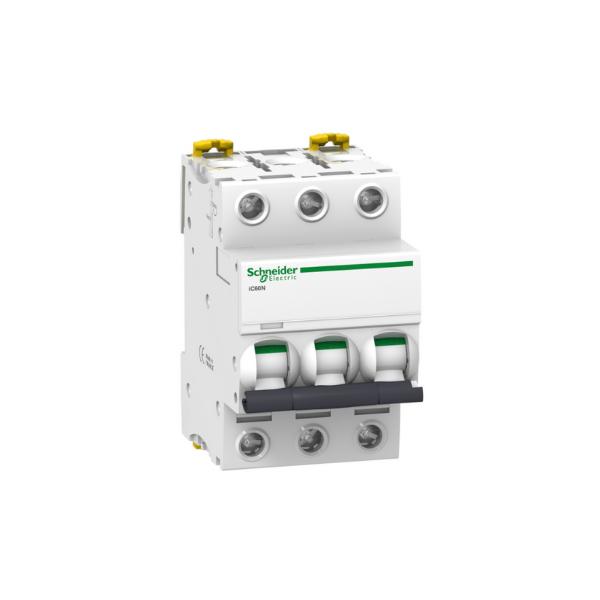 Schneider Electric A9F77320 Interruptor automático termomagnetico iC60N 3P 20A curva C