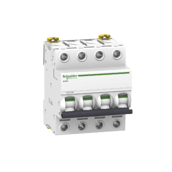 Schneider Electric Interruptor automático termomagnetico iC60N 4P 32A curva C